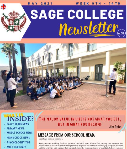 School Newsletter 14-05-2021