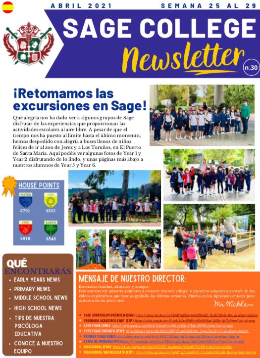 School Newsletter 30-4-2021