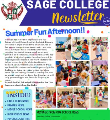 School Newsletter 11-06-2020