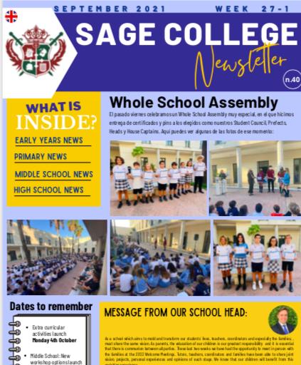 School Newsletter 01-10-2021