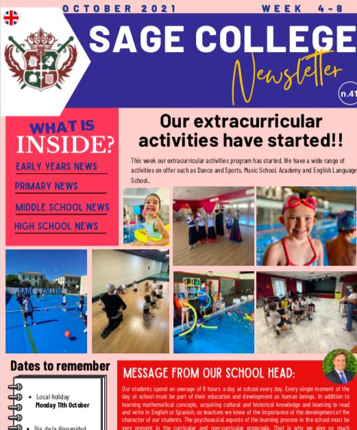 School Newsletter 08-10-2021
